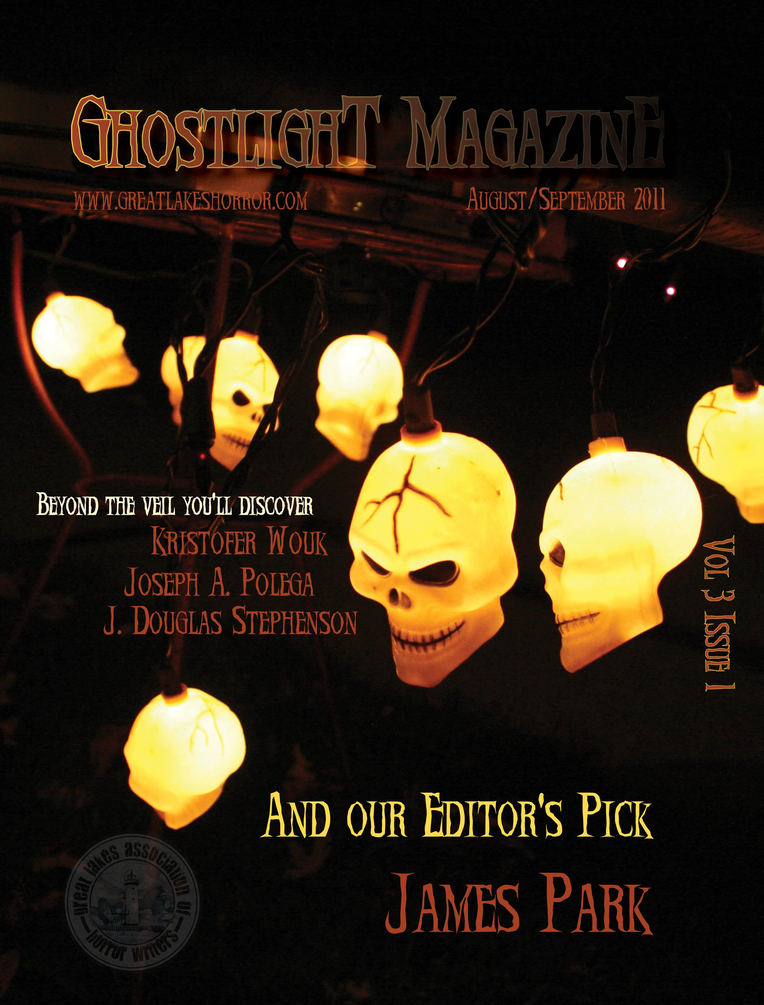 TOC Announced for Ghostlight, The Magazine of Terror