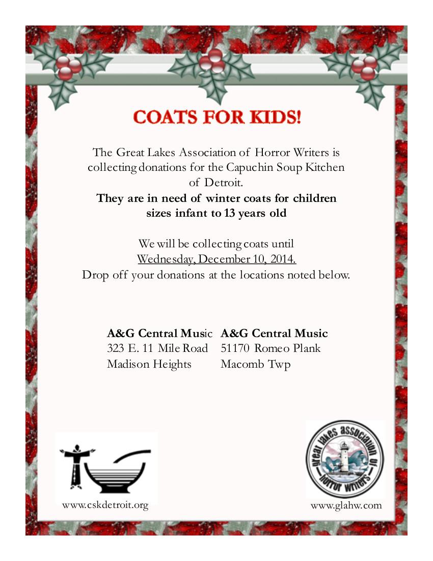 Coats for Kids 2014 Donations